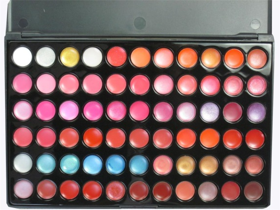 Palette-66-Colori-Rossetti-Lucidalabbra-Lip-Gloss-Make-up-Trucco-66-Color-Lip